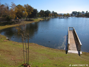 View of one of the 7 lovely lakes on-site at Santee