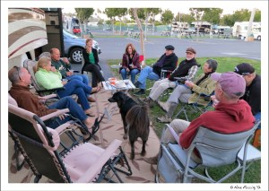 """Drinking with """"the crew"""" in Mission Bay RV Resort"""