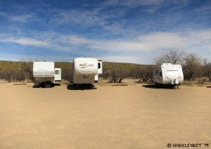 Another view in Ringtail. From left to right site 15 (RV), 16 (RV), 17 (empty), 18 (RV), 19 (empty)