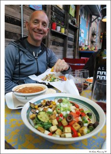 Whoever knew Paul would look so happy eating a vegan meal?