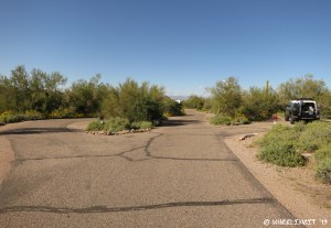 View of the other smaller sites. Empty #35 on left, truck in #34 on right