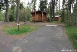 View of cabins in C-loop