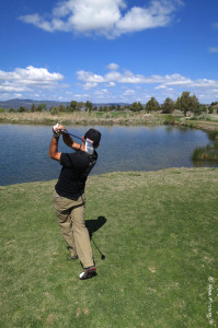A fine drive on a fine day at the Third Tee in Likely Place Golf & RV