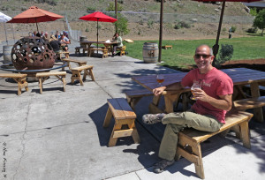 The excellent outdoor (pet-friendly) area at Crux