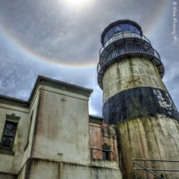 Caught another sun halo at Cape D Lighthouse