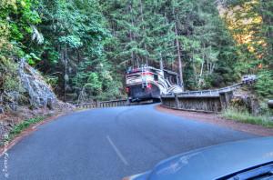 Crossing the lower bridge