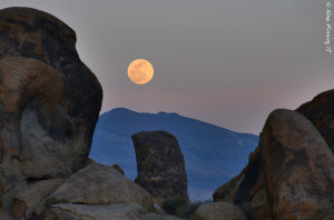 Moon-rise over the hills