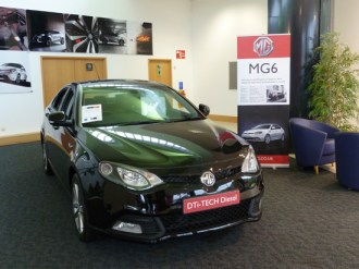 Buyers can order a new MG from the showroom on site, just a few yards from the factory where the cars are built. There are servicing facilities too.