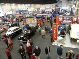 Visitors to the indoor halls at the Bristol Classic Car Show were treated to wonderful line-ups of classics of all types. This shot show the main hall.