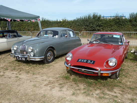 History shows that any model bearing the 'Jaguar' name will eventually pass through the 'banger' stage to become regarded as a classic car worthy of preservation. These two beauties (a 'Mark 1' saloon and an E-Type) were at the 2013 Great Dorset Steam Fair.