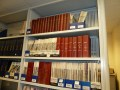 A comprehensive automotive library and archive is maintained at Sparkford; a highlight of my visit was seeing this. Shown here is a small section of the shelving devoted to historical motoring magazines.