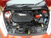 The engine bay is tightly packed; the willing 182 PS 1.6 litre turbocharged EcoBoost motor is produced at Ford's Bridgend plant.