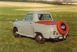 Rare and increasingly sought-after today, the A35 pick-up was sold in small numbers (approximately 500 in total). Frankly, when new this model wasn't very effective as a pick-up, and was expensive. These days pick-up owners are having the last laugh!