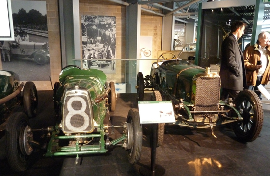 Shown here are just two of the amazing old racing cars on display in the 'Grand Prix Greats' collection at the National Motor Museum. On the left in this shot is a 1922 Aston Martin Strasbourg, while on the right is a 1912 Sunbeam 'The Cub'. Wonderful, both!