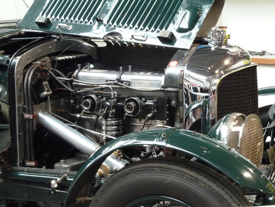 A highlight for me when attending the opening of the National Motor Museum's 'Chequered History' displays was the moment when the Museum's Chief Engineer Doug Hill fired up this engine – fitted in the Museum's 1930 4.5 litre supercharged 'Blower' Bentley. Doug knows this car and its engine very well, and personally has driven many thousands of miles in the vehicle. It weighs two tons, produces 200 bhp and is capable of 102.6 mph! In case you were wondering…