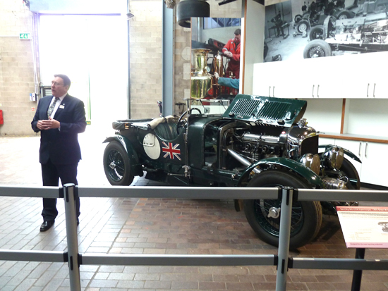 …this is what the magnificent Bentley looks like. Here, just before the 'start-up', Doug Hill is explaining the finer points of dealing with and preserving the 4.5 litre engine, which requires a range of 'sympathetic' techniques in order to get the best from it.