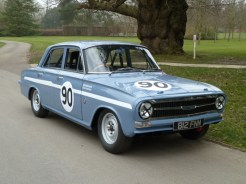 Paul Clayson's historic Vauxhall Victor FB VX 4/90 has seen 50 years of motor sport, and in 1963 was raced by Chris Lawrence and Bill Blydenstein in the St. Mary's Trophy race at Goodwood. It also saw action in the 1963 European Touring Car Chamionship.