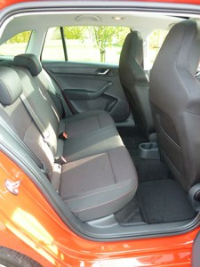 There's plenty of head and leg room in the rear seats of the Spaceback, with wide-opening doors too.