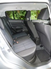 The rear seat will take three adults, for whom head room is generous. However, leg room is restricted when the front seats are set towards their rearmost positions (as can be seen here in the case of the passenger seat).
