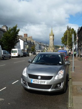 On our last full day in Wales we decided to drive from Dolgellau to Aberystwyth, via the fascinating and friendly town of Machynlleth, where we parked in the centre and explored on foot.