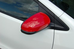 Red highlights on our test Civic included the door-mounted mirrors.