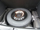 Space saving type spare wheel on our test car.