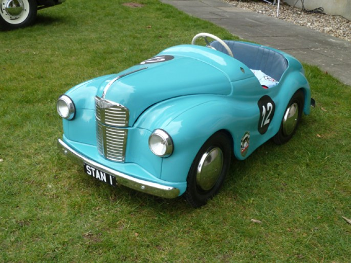 'Correct' in every detail, and topping the wishlist of so many youngsters in the 1950s/60s, the Austin J40 pedal car was manufactured to very high standards – like the full-size A40 on which it was based. This one was spotted at Goodwood.