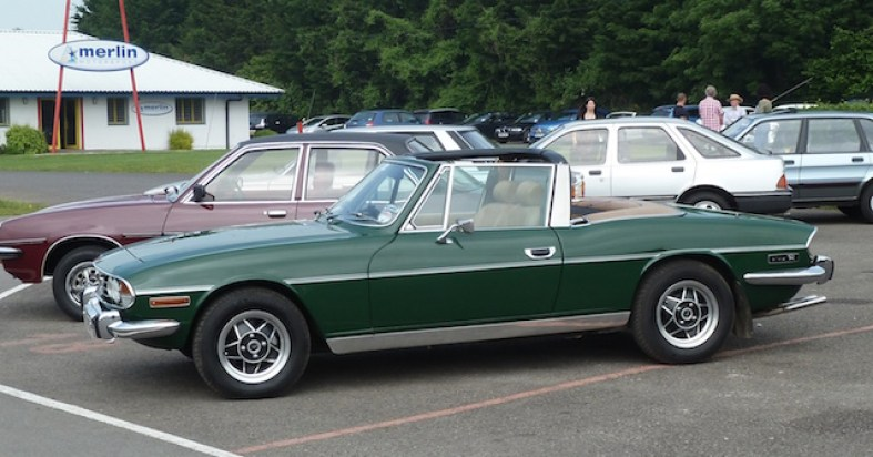 Hood down... The Stag becomes a fine classic in which to enjoy comfortable open-top motoring.