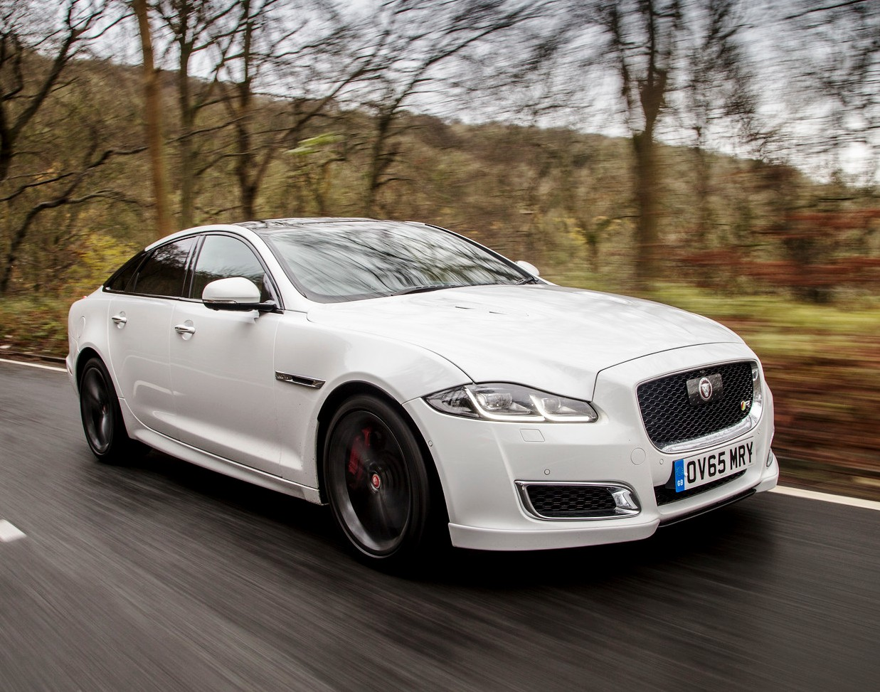 Jaguar XJ's high performance 5.0 litre petrol-powered XJR.