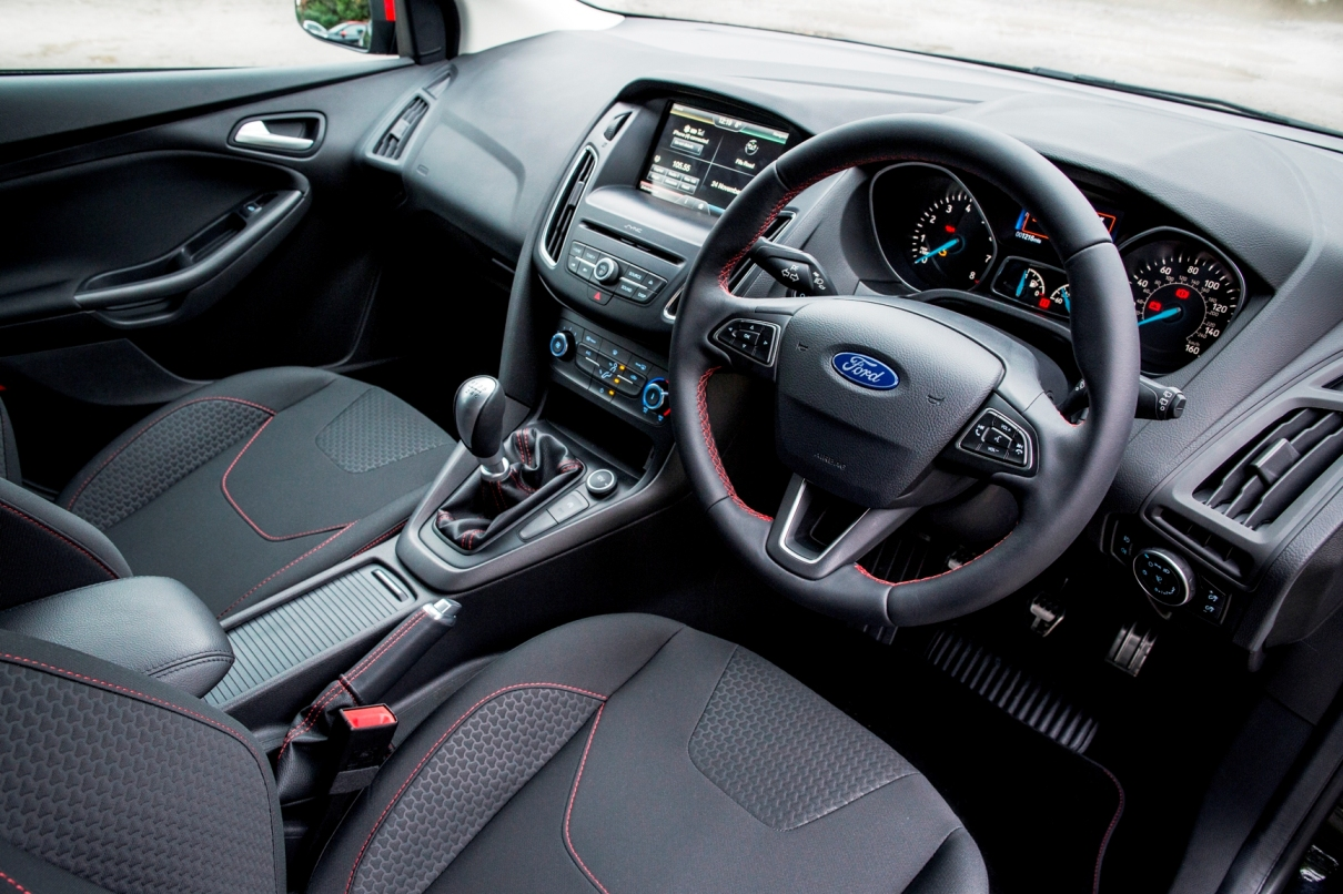 Focus Zetec S Red and Black Editions front interior