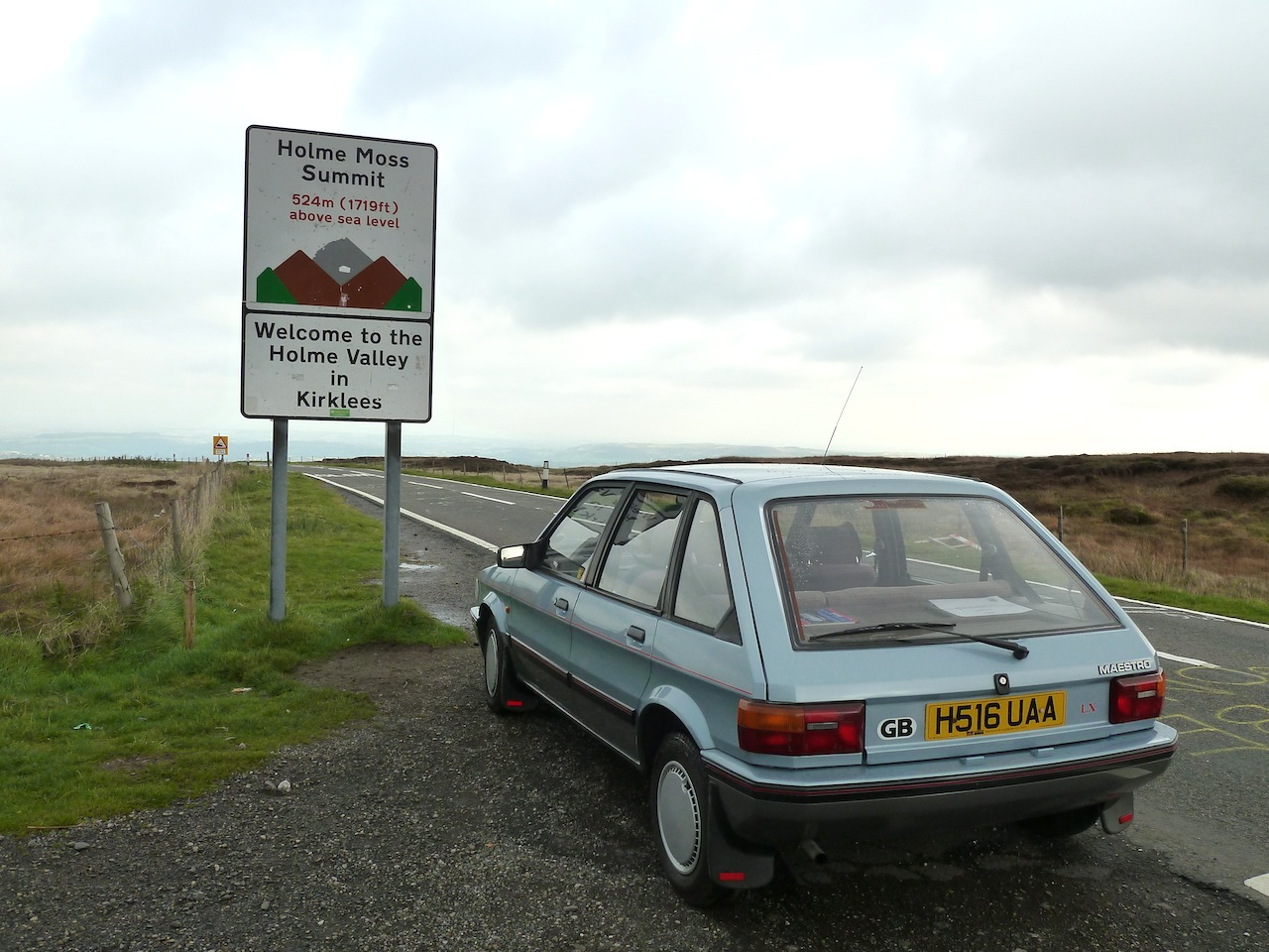 """""""On Top of The World?"""" on Holme Moss summit."""