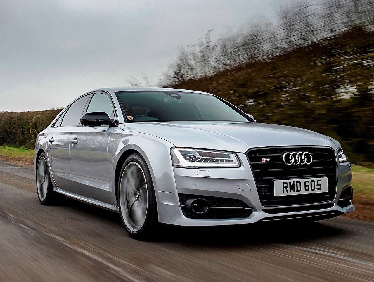 Audi S8 Plus side front action copy