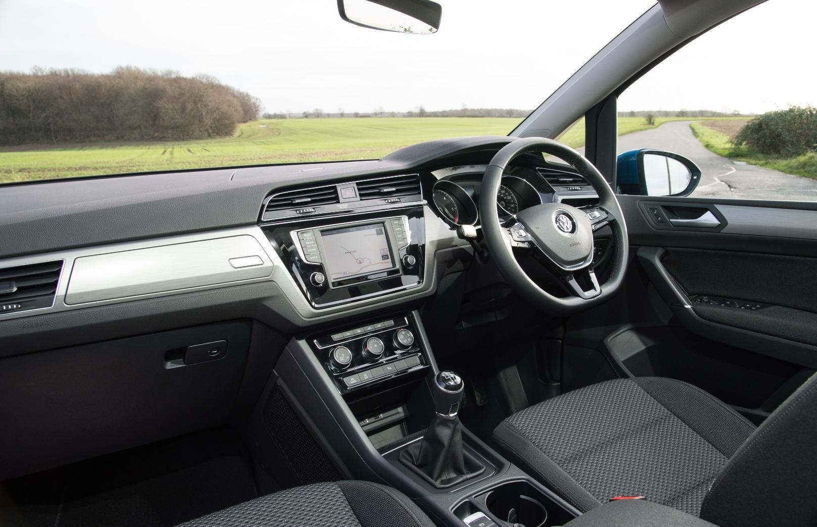 VW Touran front interior