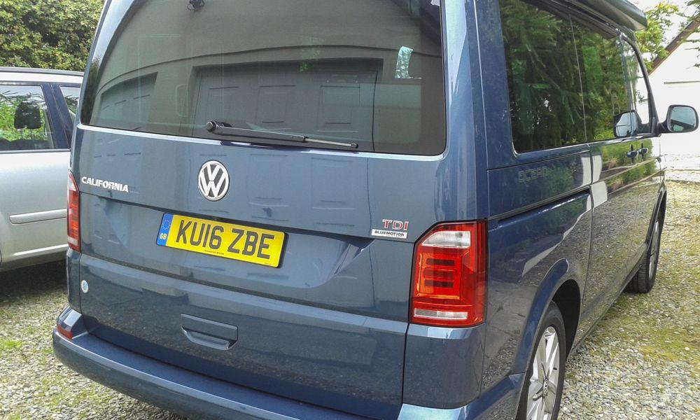 VW California back home again in Wales.
