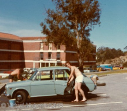 My Austin 11-55 at Rhodes University in Grahamstown, South Africa.