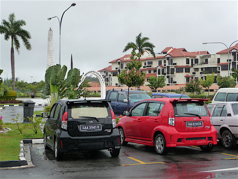 These two Proton Myvis were parked together in the 'peace' park in Kota Kinabalu.