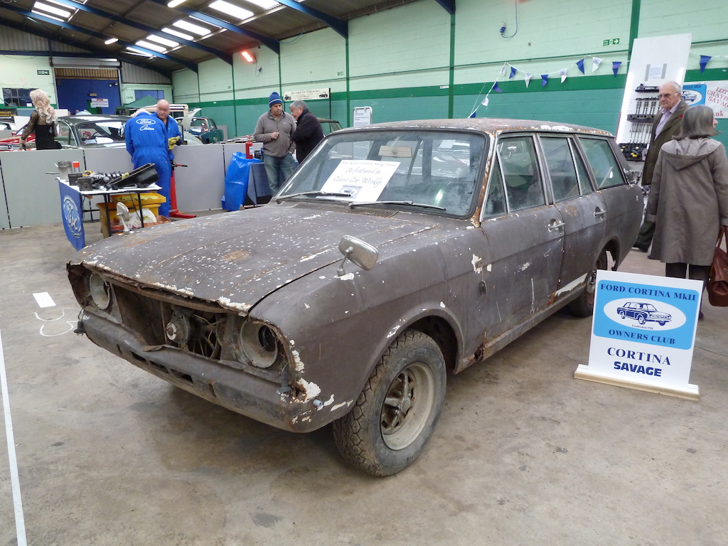 A fast and practical classic – a rare Ford Cortina Savage V6 estate car was one of the vehicles in the Ford Cortina Mark II Owners' Club display.