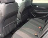 Peugeot 308GT Line limited rear seat legrooom
