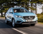 MG - ZS EV all electric compact SUV front side action