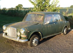In need of a little t.l.c. but looking solid and complete, a left hand drive Vanden-Plas 1300.