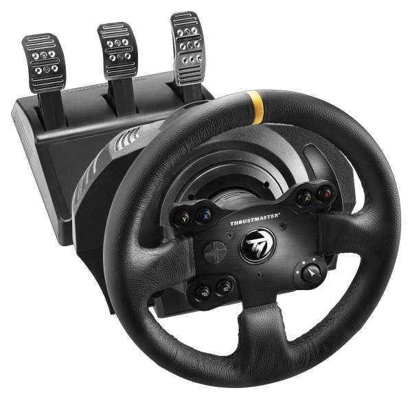 Thrustmaster TX Leather edition xbox One met T3PA Pedalen.