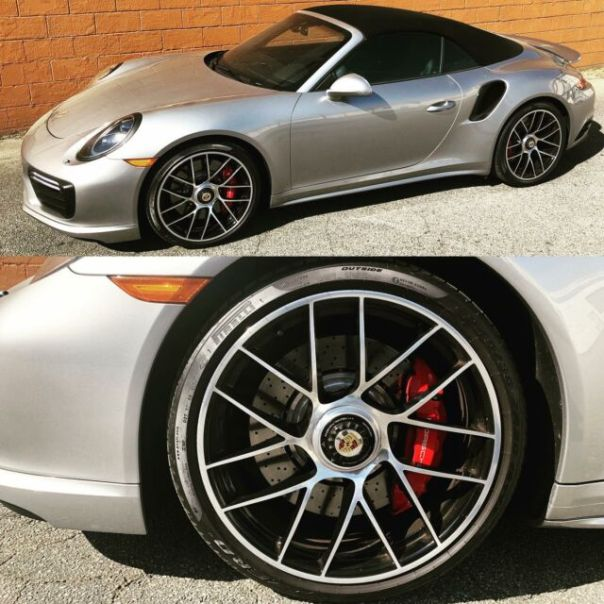 Polished wheels on this Porsche GT3