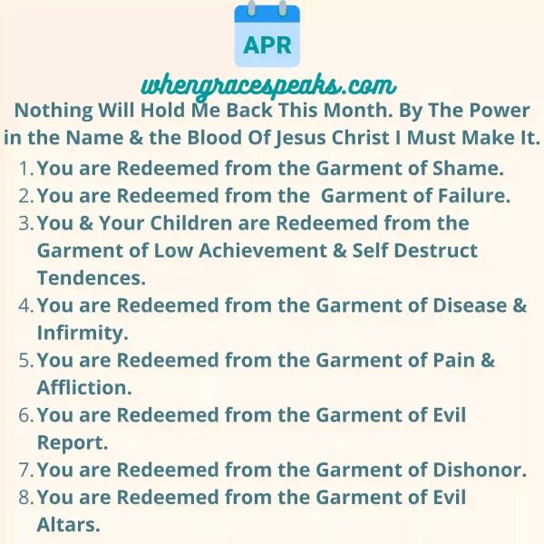 APRIL BIBLICAL AFFIRMATIONS