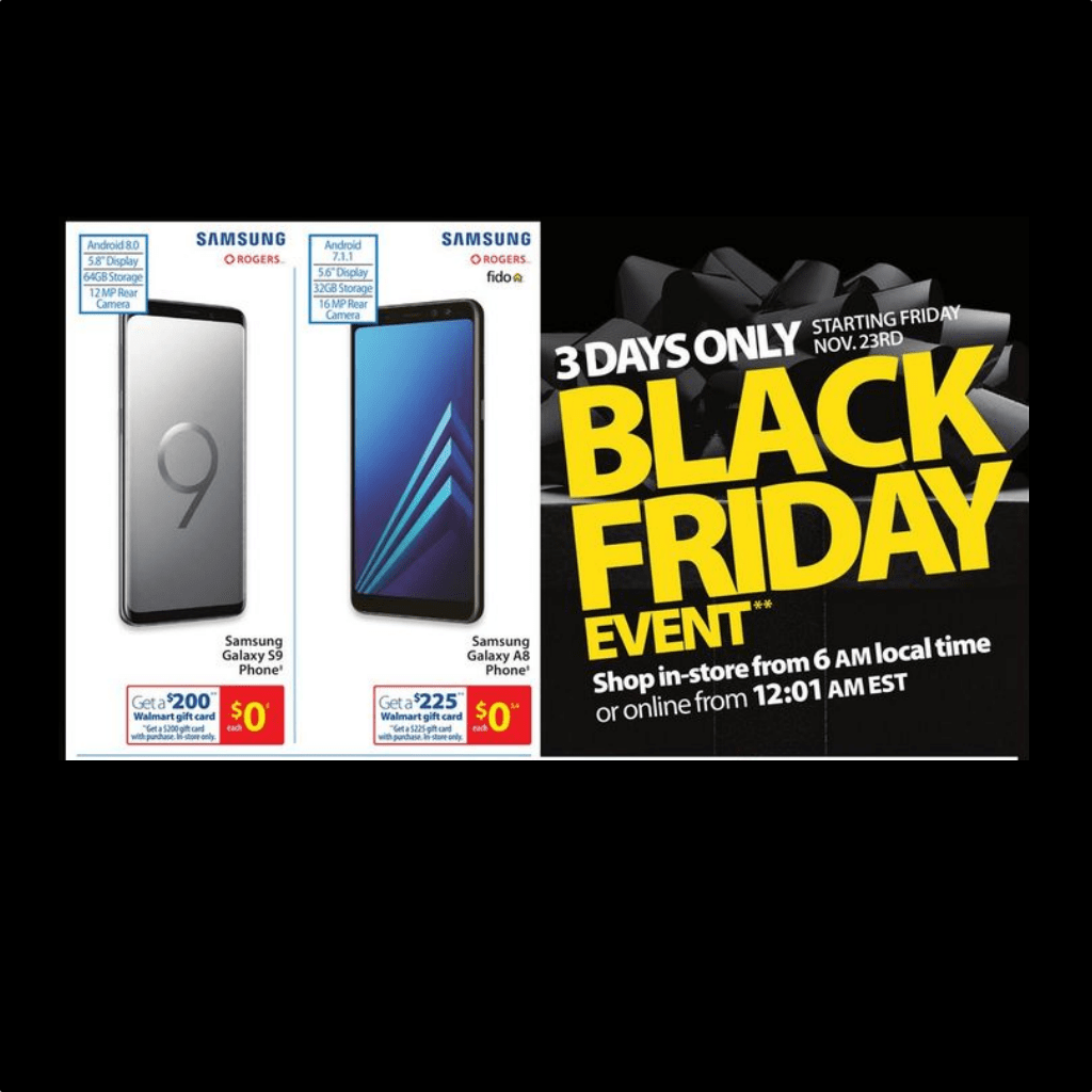 Lists of Black Friday Smartphone Deals 2018