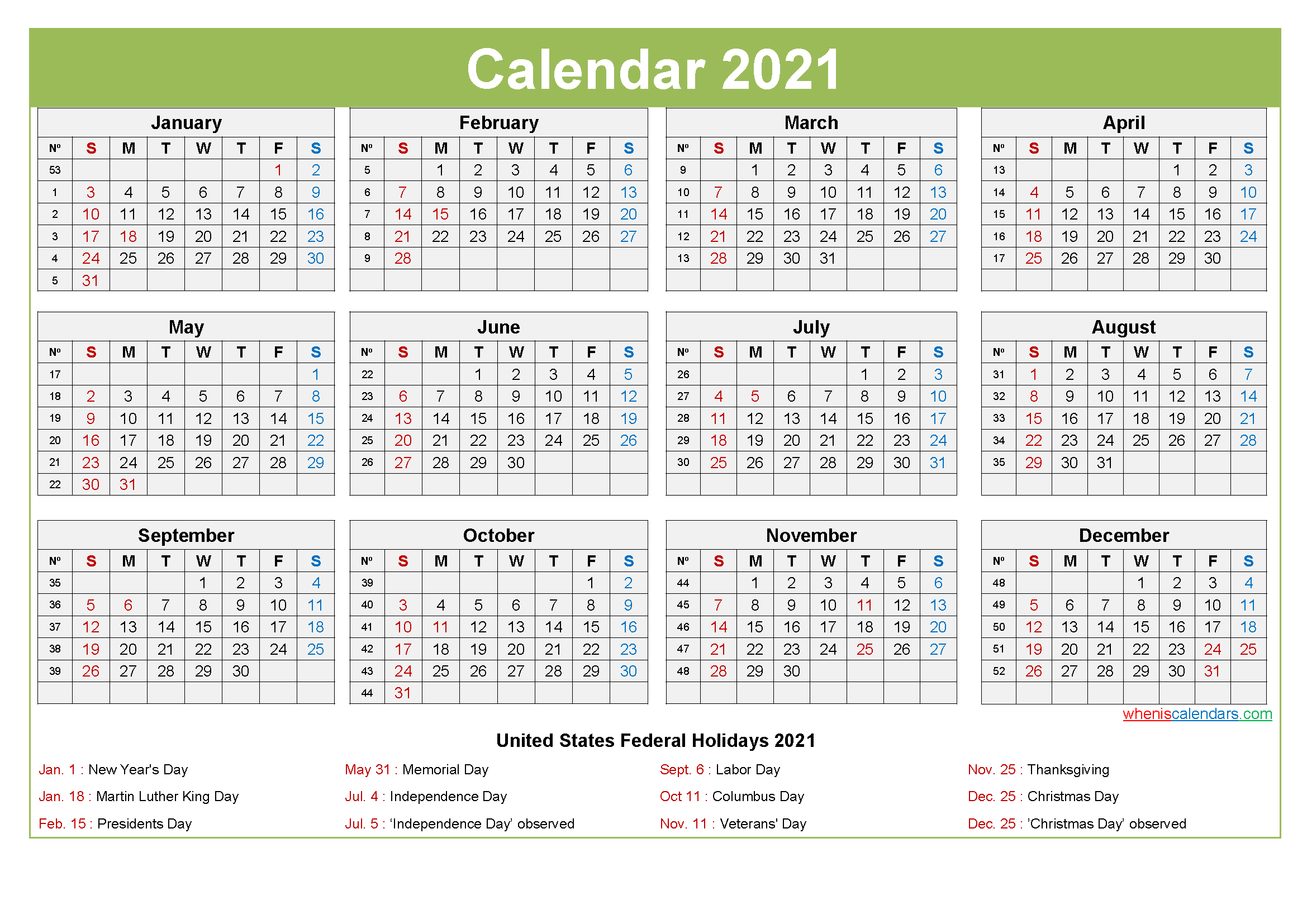 Google provides a list of interesting calendars which you can add to your google calendar account, including holiday. Computer Desktop Calendar 2021 with Holidays