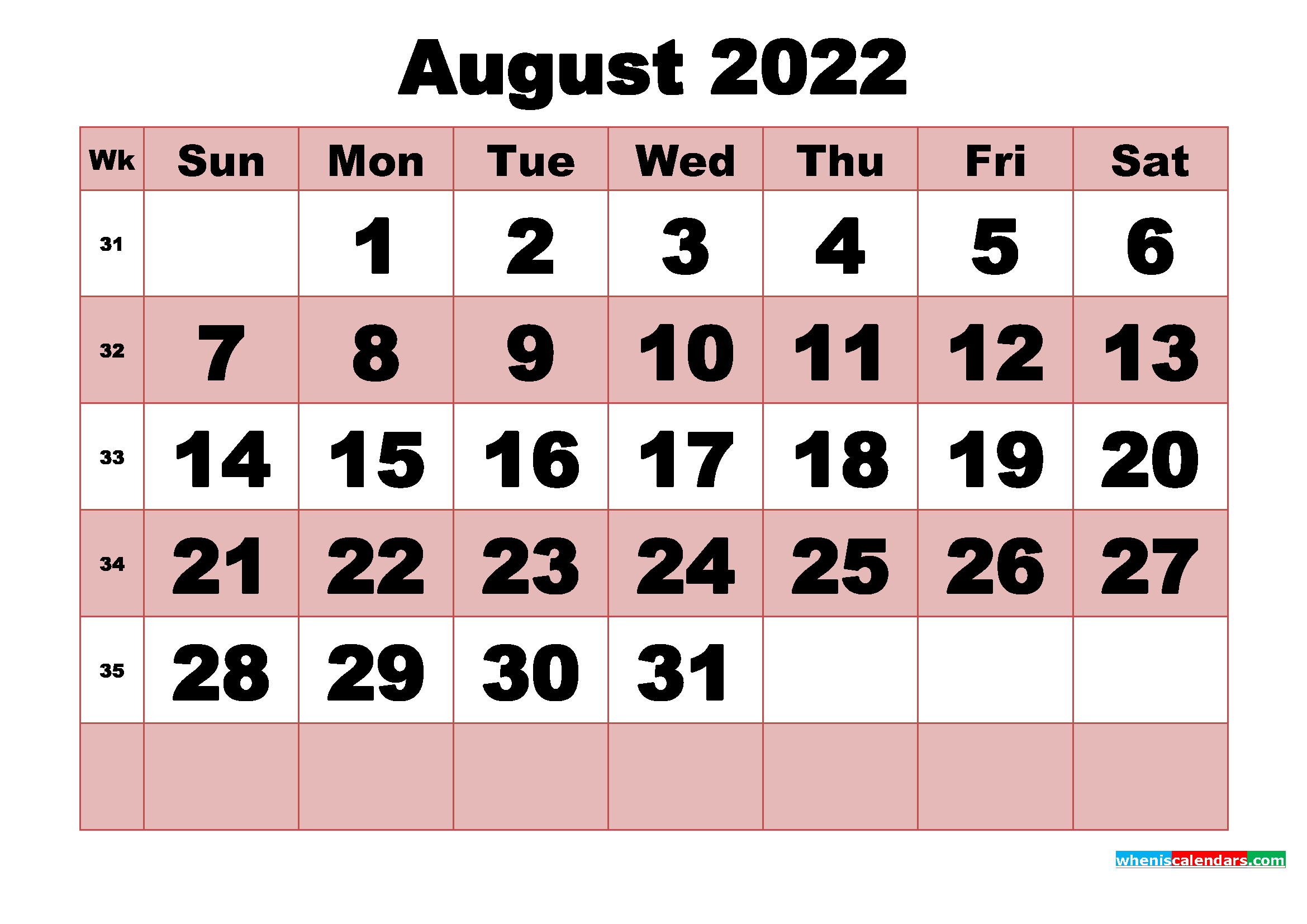 These include monthly calendars and even complete 2021 planners. Free Printable Monthly Calendar August 2022   Free ...
