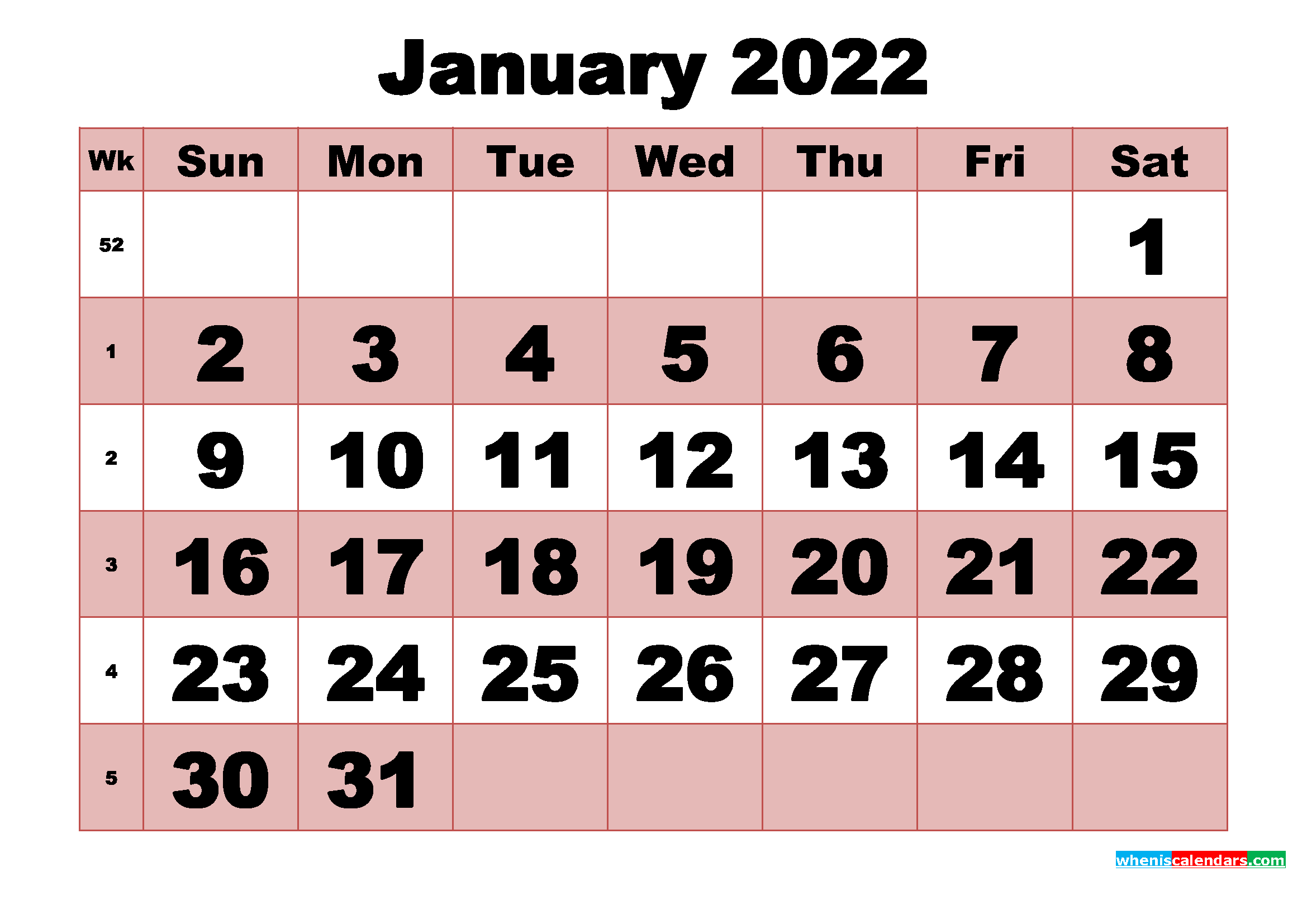 Remembering to pay your bills each month isn't always easy, especially when your bills are d. Free Printable Monthly Calendar January 2022