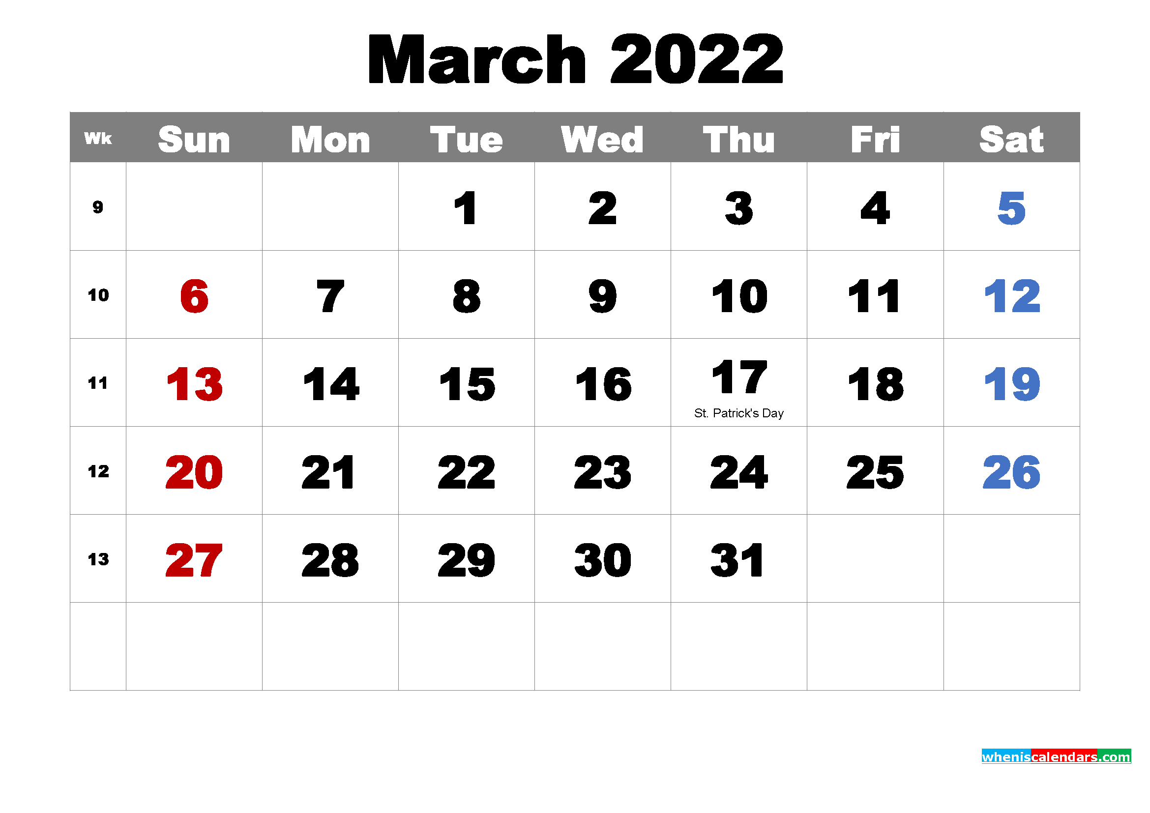 Holiday information provided by the almanac office at university of helsinki. Free Printable March 2022 Calendar with Holidays as Word, PDF