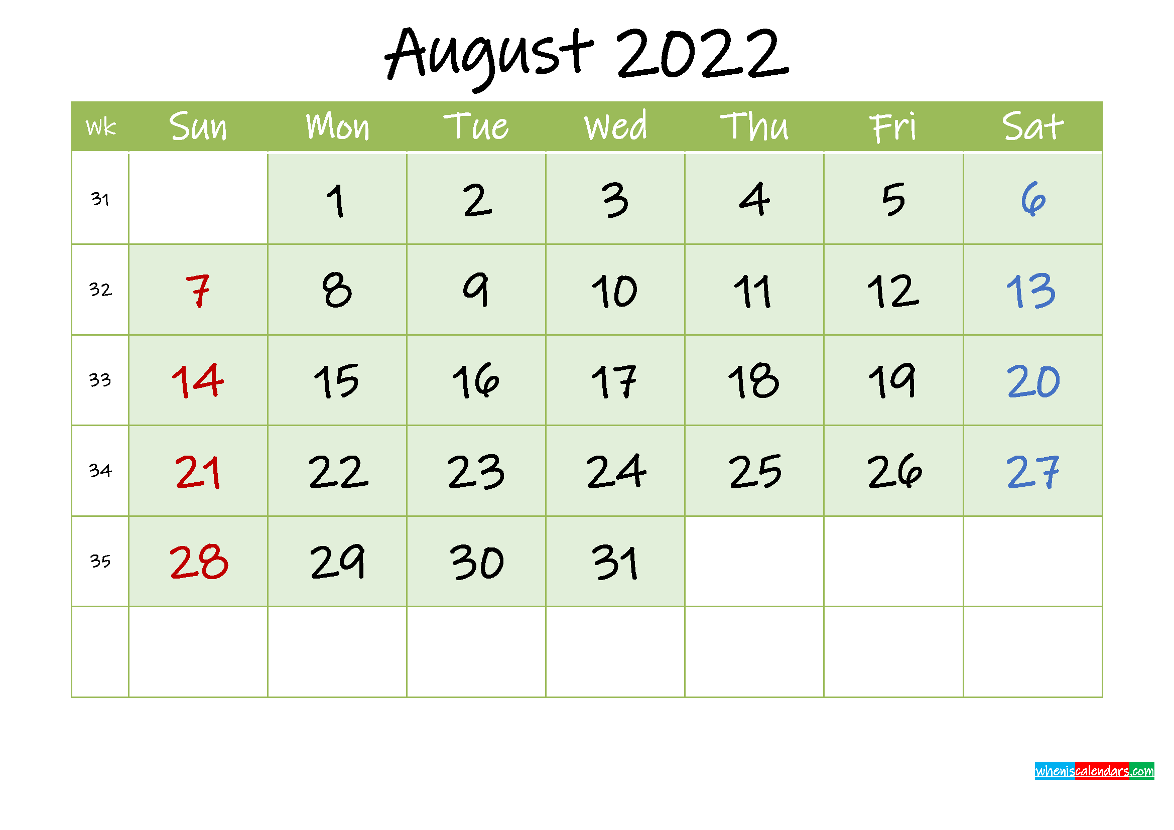 The spruce / lisa fasol these free, printable calendars for 2021 won't just keep you organized; August 2022 Free Printable Calendar - Template ink22m128