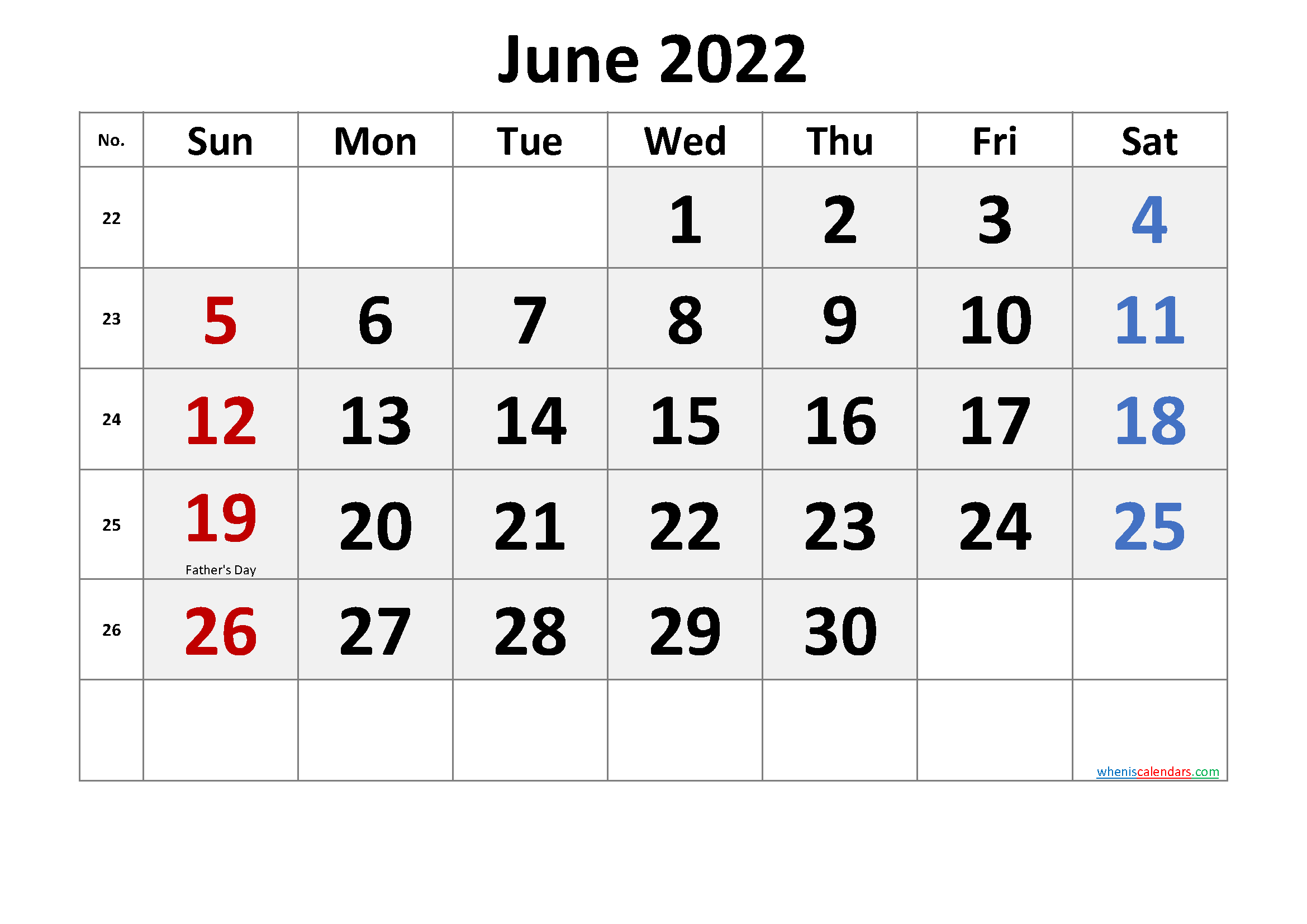 Find best printable print january to june 2022 calendar template to create schedule for the entire month. Free June 2022 Calendar Printable | Free Printable 2020 ...
